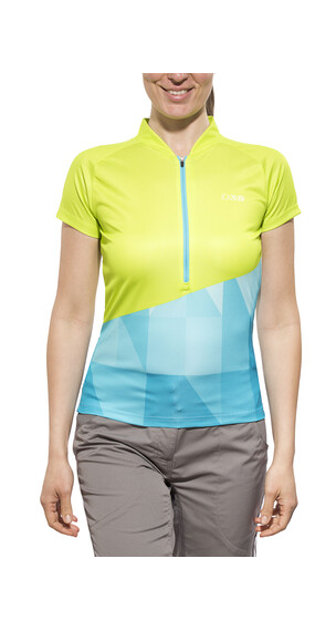 IXS Sablun Jersey korte mouwen Dames Trail geel/blauw